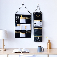 Wall Hanging Storage Bags Cotton Linen Door Organizer Hang Pouch Bedroom Home Dormitory Office Container Supplies