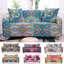 Mandala Sofa Slipcovers Elastic Sofa Cover Armchair Slipcovers 3 Seaters Stretch Sofa Bezug Covers Elastic Sofa