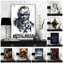 Metal engrenagem sólida mgs videogame cartazes e cópias da lona arte pintura moderna parede fotos para sala de estar quarto decoração casa