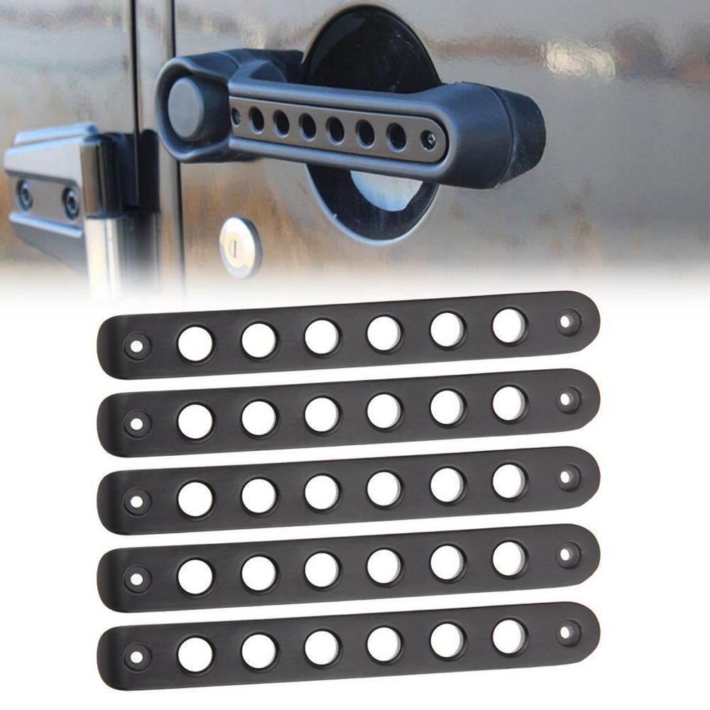 5pcs Grab Handle Cover Silver Handle Insert 07-17 Jeep Wrangler JK JKU 4 Door