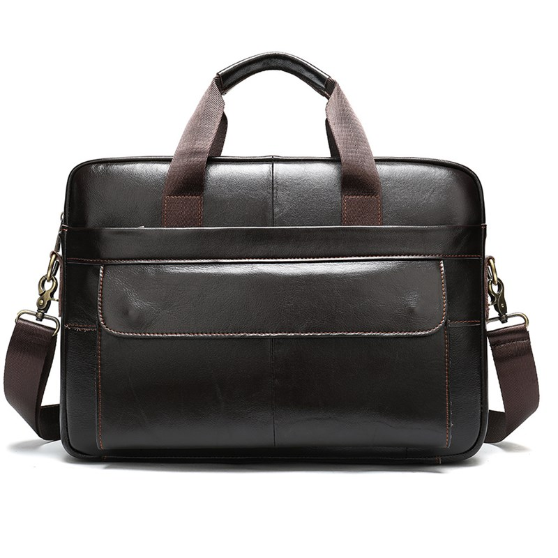 Men's Leather Bag Men Briefcase Office Bags Man Genuine Leather Laptop Bags Male Tote Handbag High-Quality