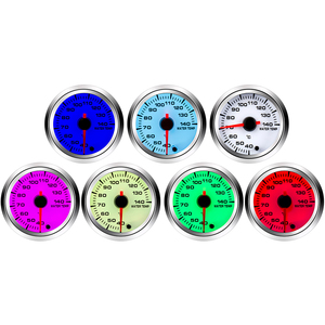 Image 2 - 2 52MM Car Water Temperature Gauge 40 140 Celsius With Water Temp Joint Pipe Sensor Adapter 1/8NPT 28 40MM 7 Color Backlight