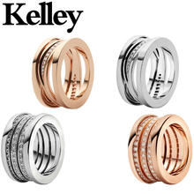Kelley fit bulgaria s925 sterling silver rings trendy design crystal Cocktail Brand decoration Ring fashion jewelry for womens