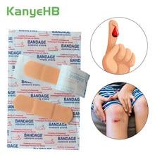 Adesivo de emergência hemostase, adesivo à prova d'água para auxílio com bandagem de primeiros socorros para calcanhar, emplastro adesivo, 100 peças