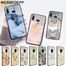 lovely Bambi And Thumper Glass Case for Samsung S7 Edge S8 S9 S10 Plus A10 A20 A30 A40 A50 A60 A70 Note 8 9 10