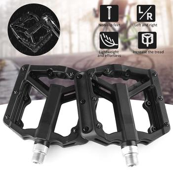 Ultralight Flat MTB Pedals Nylon Bicycle Pedal Bmx Mountain Bike Platform Pedals 3 Sealed Bearings Cycling Pedals For Bicycle 1pair bmx mtb bicycle pedals 3 bearings ultralight aluminum alloy mountain bike cycling pedal bike accessories drop shipping