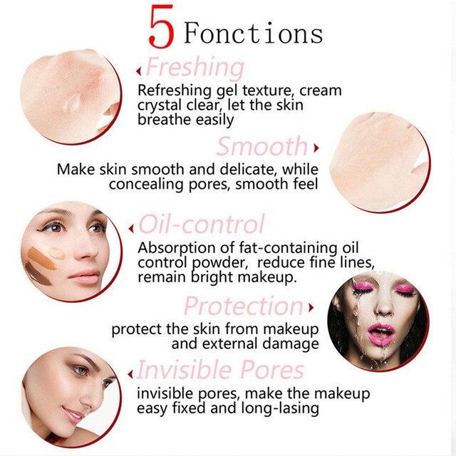Face Eye Primer Makeup Smoothing Matte Base Make Up Oil Control Invisible Pores Facial Cream Brighten Liquid Foundation Primer 4