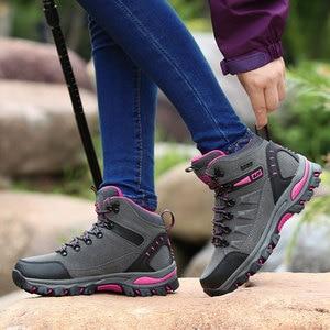 Image 3 - Phụ Nữ Núi Giày Chống Nước Thể Thao Ngoài Trời Giày Leo Núi Nam Đi Đào Tạo Giày Bọc Chống Trượt Mặc Săn Bắn Giày
