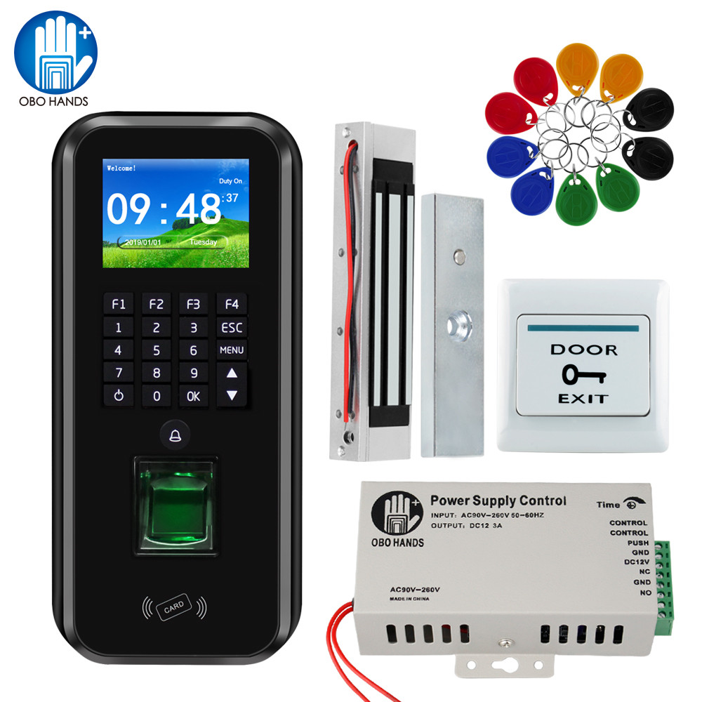 TCP/IP/RS485 RFID Door Access Control System Software Fingerprint Biometric Time Attendance 180KG Magnetic / Strike/ Bolt Lock