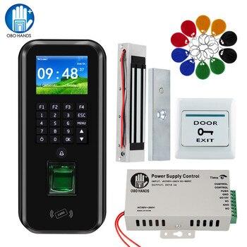TCP/IP/RS485 RFID Door Access Control System Software Fingerprint Biometric Time Attendance 180KG Magnetic / Strike/ Bolt Lock