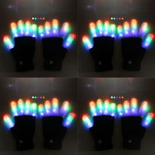 Toys Scary Finger-Gloves Flashing Cosplay Cool Party LED Halloween Ghost 1-Pair Horror