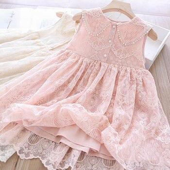 5P249Rainbow Ruffles Tutu Sleeveless Princess Baby Girl Dress Summer Party Wedding Kid Dress For Girl Wholesale Child Clothes