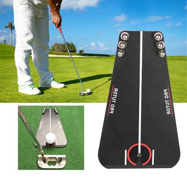 Golf Putting Mirror Training Alignment Portable Mirror Golf Aid Alignment Tools Indoor & Outdoor Putting Mirror Golf Accessories 2