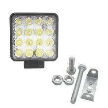 48W 6000k LED Spot Beam Square Work Lights lampa ciągnik ciężarówka SUV 4WD 12V 24V tanie tanio FGHGF ROHS CN (pochodzenie) Przemysłowe 1 Year LED working light 110 v LED panel light 30 60 -45 to 85 Middle IP67 16pcs