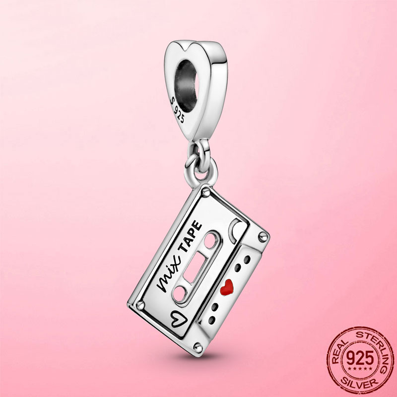 2021 новый 925 стерлингового серебра Винтаж кассета на крючках, Очаровательные бусы, подходят к оригиналу Pandora, браслет, ожирелье, серебро 925, юв...