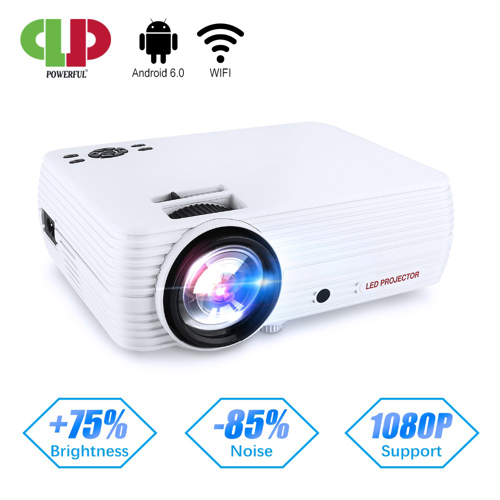 PODEROSO Projetor X5 720P Android Proyector 4 K-Full HD Media Player Proyector Beamer 2600 lumens WI-FI do smartphone home Theater
