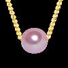 Xf800 multa jóias au750 18k amarelo pingente colar 100% natural pérola gargantilhas colar forma redonda melhor presente para o amante n03 7