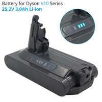 25,2 V 3A Li-Ion de la batería recargable para Dyson V10 absoluta V10 Fluffy ciclón V10 Motorhead SV12 de la batería de litio