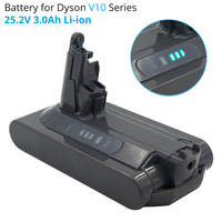 25.2V 3A Li ion vacuum cleaner Rechargeable battery for Dyson V10 Absolute V10 Fluffy cyclone V10 Motorhead SV12 Lithium Battery