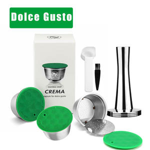 Refillable Capsule FILTERS-CUP Tamper Dolce Gusto Nescafe Stainless Metal Icafilas