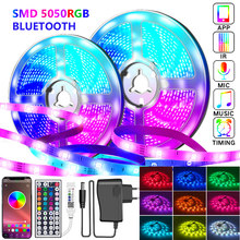 20M LED Strip Lights RGB Bluetooth 5050 Waterproof Led Light for room 30LEDs/M Flexible Ribbon SMD RGB Tape Diode luces for room
