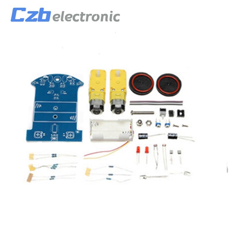 D2-1 DIY Kit Intelligent Tracking Line Smart Car Kit Suite TT Motor Electronic Production Smart Patrol Automobile Parts