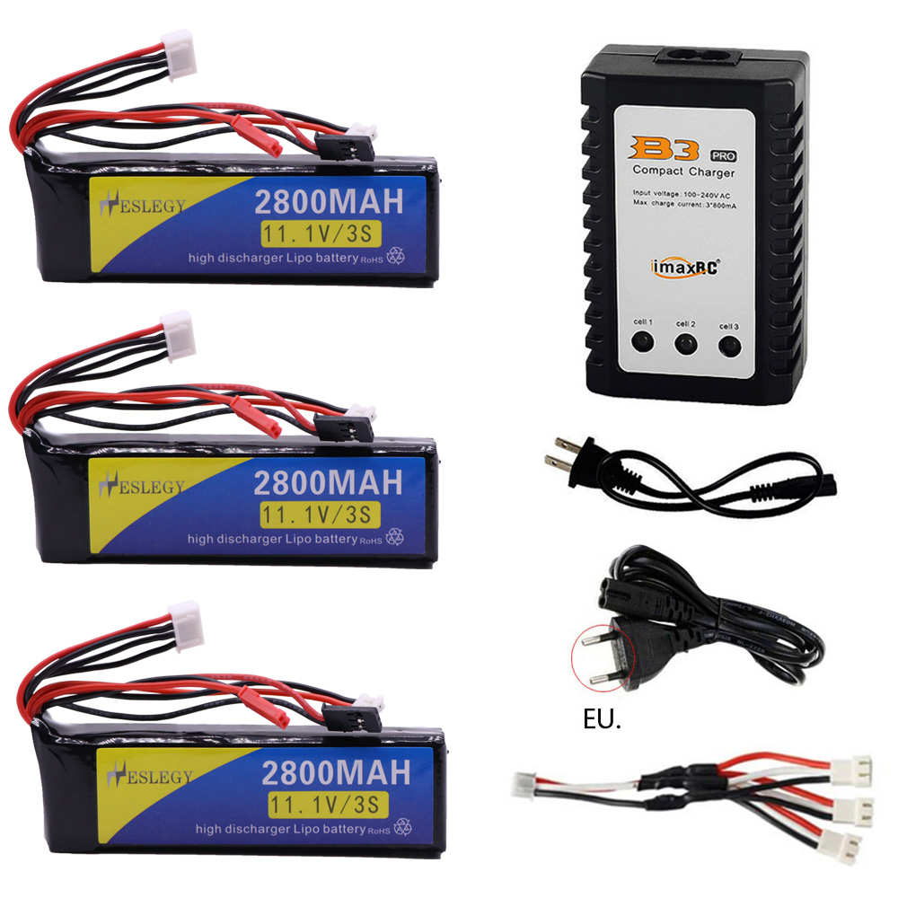 11.1V <font><b>2800mAh</b></font> 3S LiPo Battery and charger for Walkera DEVO <font><b>7</b></font> DEVO 10 DEVO12E F12E WFLY9 RadioLink AT9 AT10 Transmitter accessory image