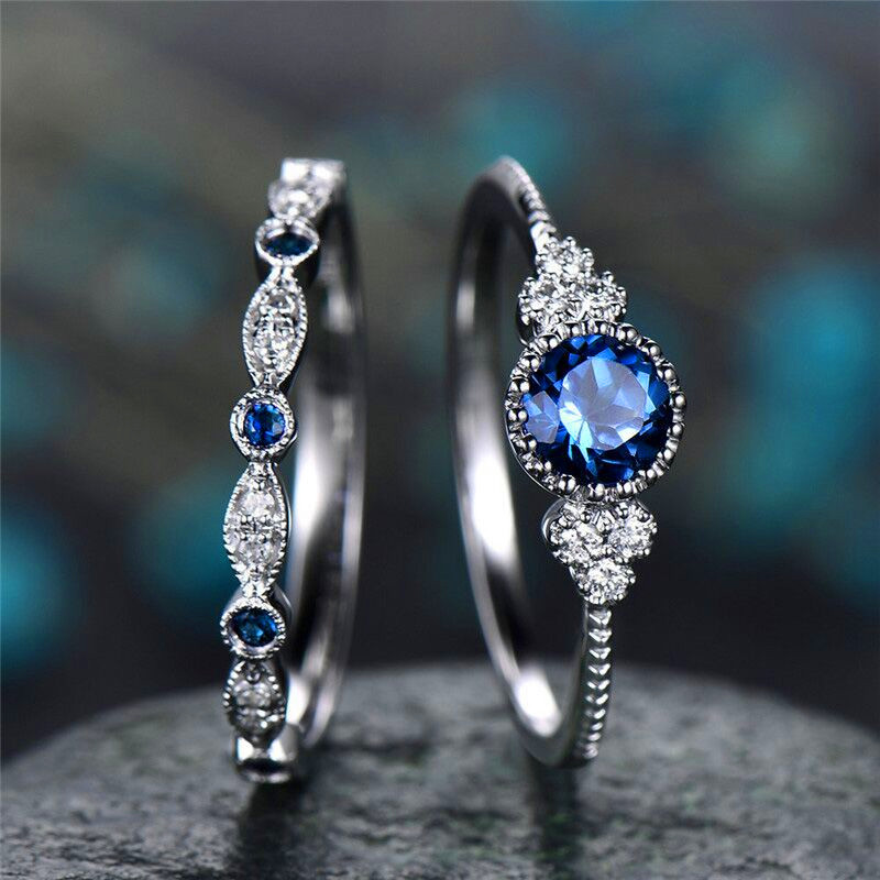 2Pcs-Set-rings-2019-New-Luxury-Green-Blue-Stone-Crystal-Rings-For-Women-Sliver-Color-Wedding (1)