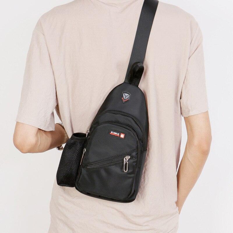 New Nylon Men Shoulder Sling Bag Crossbody Chest Bags Women Multi Function Pack