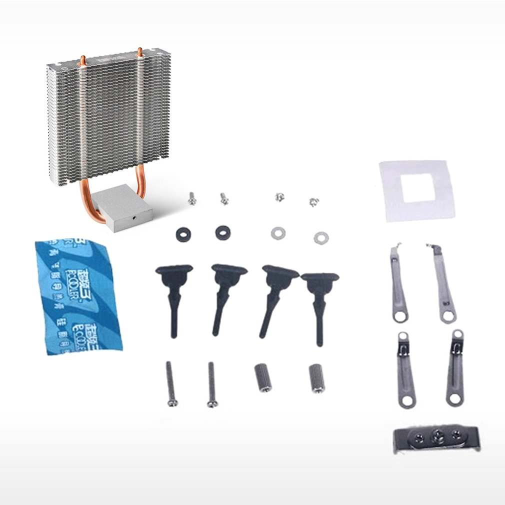 PCCOOLER CPU Cooler 2 Heatpipes Radiator Aluminum Heatsink Motherboard Northbridge Cooler Support 80mm CPU Fan
