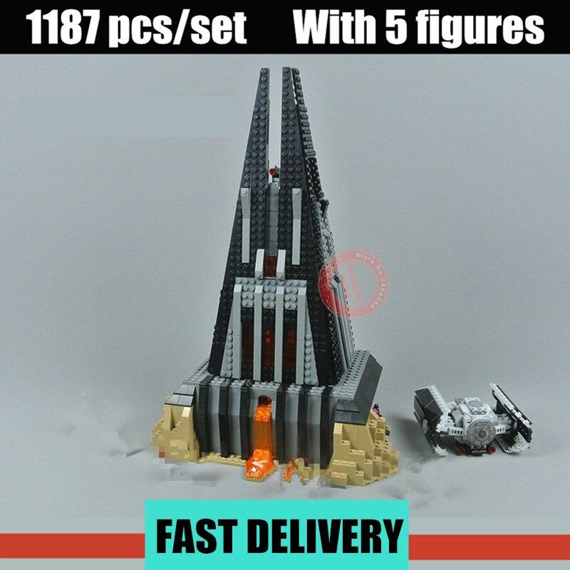 New Star Darth Vader`s Castle Fit Legoings Wars Vader Figures TIE Fighter 75251 Building Block Bricks Toy DIY Gift