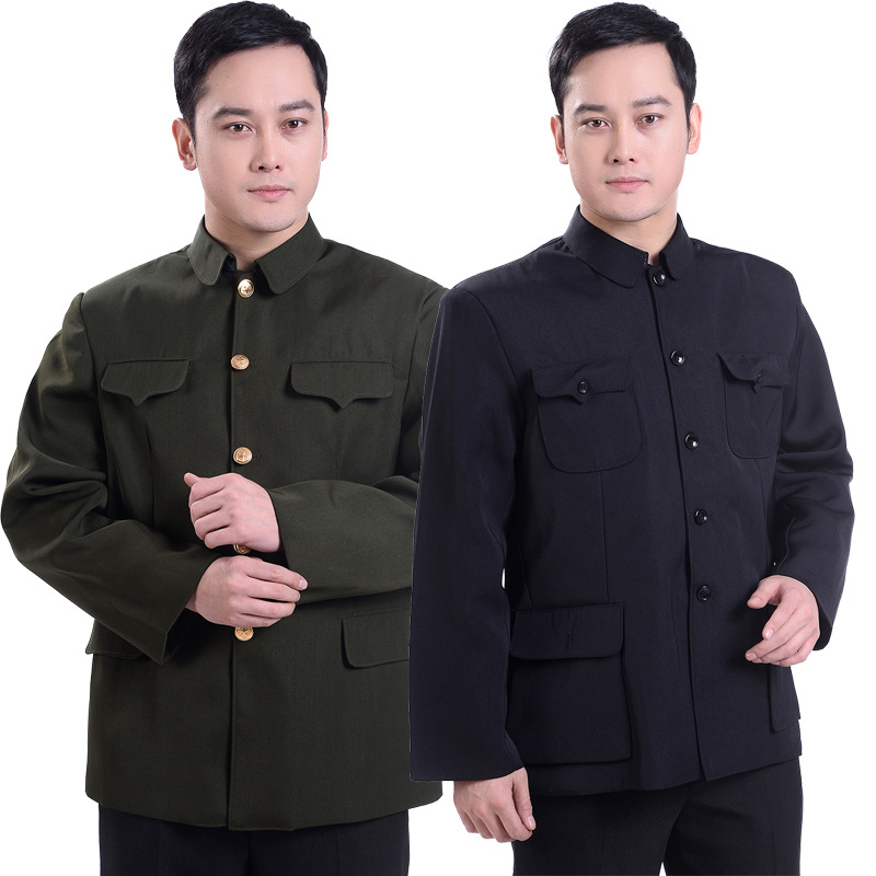 Autumn Middle Aged And Elderly People Men'S Wear Sun Yat-sen Costume Jacket MEN'S Coat Nation Clothing