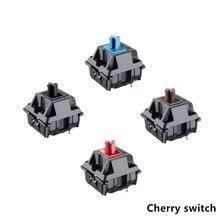 Oryginalny 8 Cherry MX mechaniczna klawiatura srebrny MX brązowy niebieski przełącznik 3 pin Cherry jasne przełącznik