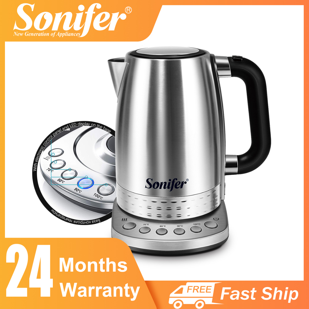 1.7L Electric Kettle Tea Coffee Thermo Pot Appliances Kitchen Smart Kettle With Temperature Control Keep Warm Function Sonifer