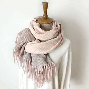 Image 4 - Örgü kaşmir Pashmina eşarp uzun eşarp Tessel sıcak kış moda eşarp lüks hediye kadınlar bayanlar için