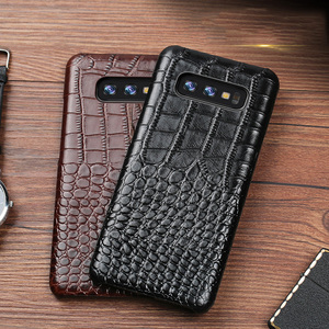 Image 1 - Crocodile Genuine leather Case For Samsung Galaxy A3 A5 A6 A7 A8 A9 A6S A8S A9S Plus Star Pro 2017 2018 Phone Back Cover