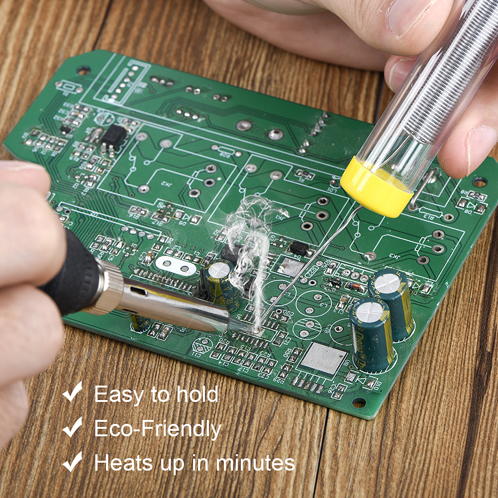 JCD 110V 220V 60W Электрический паяльник для подключения к 908 Регулируемый Температура сварочный припой инструмент с подставка для паяльника очиститель