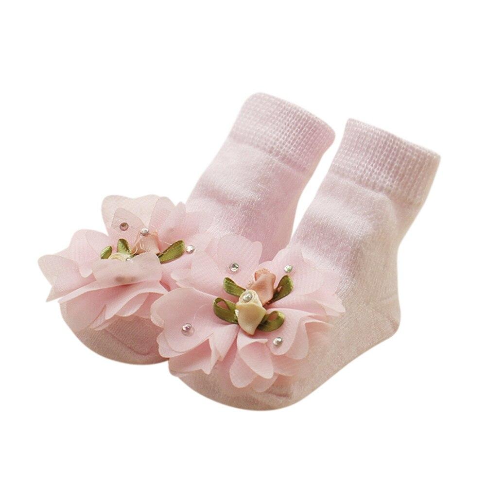 Baby Foot Socks Novelty Baby Kids Girls Comfortable Floral Cute Cotton Sock Slippers Warm Ankle Socksshoe Winter Socks For Baby