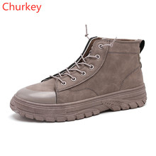 Mens Shoes Work Boots  Leather Casual Spring/Autumn Men Ankle High Top Sneakers