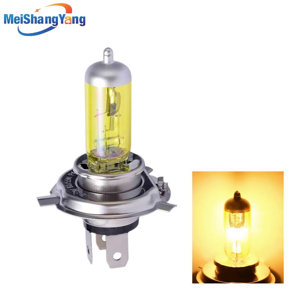 H4 55W 12V 100W luces antiniebla amarillas bombilla halógena lámpara de Faro de alta potencia coche fuente de luz aparcamiento cabezal automático 60/55W 3000K