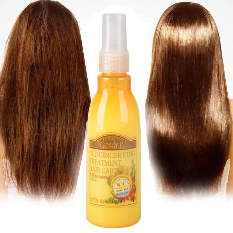Ginger Hair Care Spray For Hair Care And Protects Damaged Hair Keratin Moisture Hair 130ml Hair Salon Products Scalp Treatments