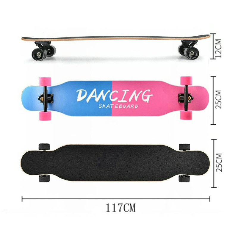 Image 2 - Professional Complete Longboard Skateboard Street Dancing Longboard Skateboard Downhill Maple Deck Board-in Skate Board from Sports & Entertainment