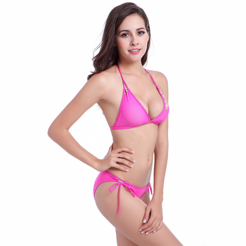 Original  Design Strappy Bandage Stretch Mesh Sexy Women Transparent Bikini 02#