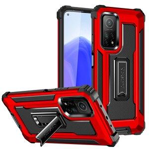 Image 1 - Kickstand Hard Armor Phone Cover for Xiaomi POCO F3 5G F 3 3F Mi 11 PocoF3 10T Lite Redmi K40 Pro Note 9S 9 8 Pro 9A Note 9T