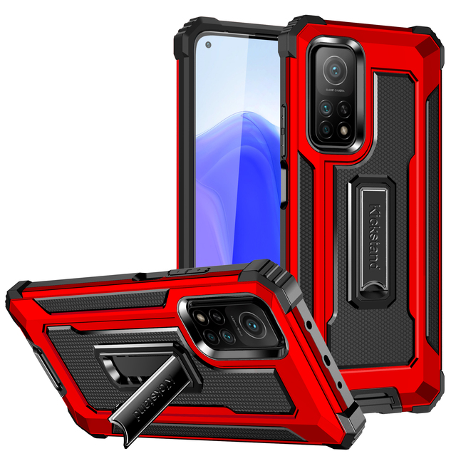 Kickstand Hard Armor Phone Cover for Xiaomi POCO F3 5G F 3 3F Mi 11 PocoF3 10T Lite Redmi K40 Pro Note 9S 9 8 Pro 9A Note 9T