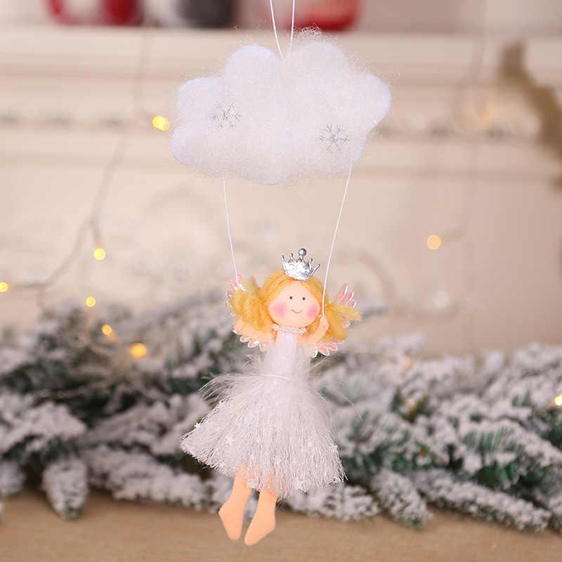 Christmas Tree Decor Flying Angel ตุ๊กตา Xmas Tree Ornament นาตาล Noel Deco คริสต์มาสตกแต่งใหม่ปี 2020 เด็กของขวัญ