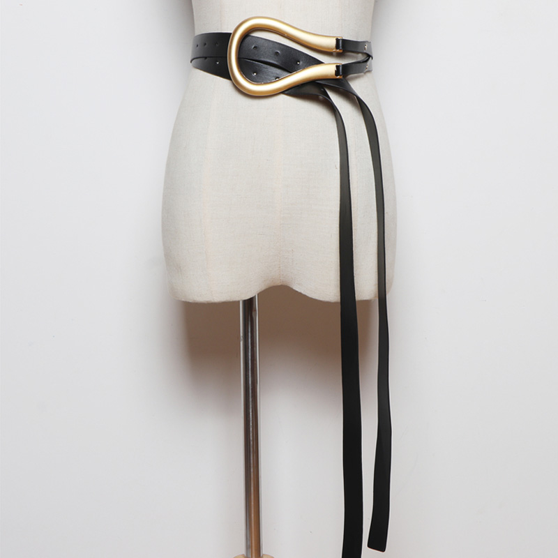 Hot DealsBelt Blazer Influencer Female Elegant Black Women Fashion Stylish All-Match 135cm PU