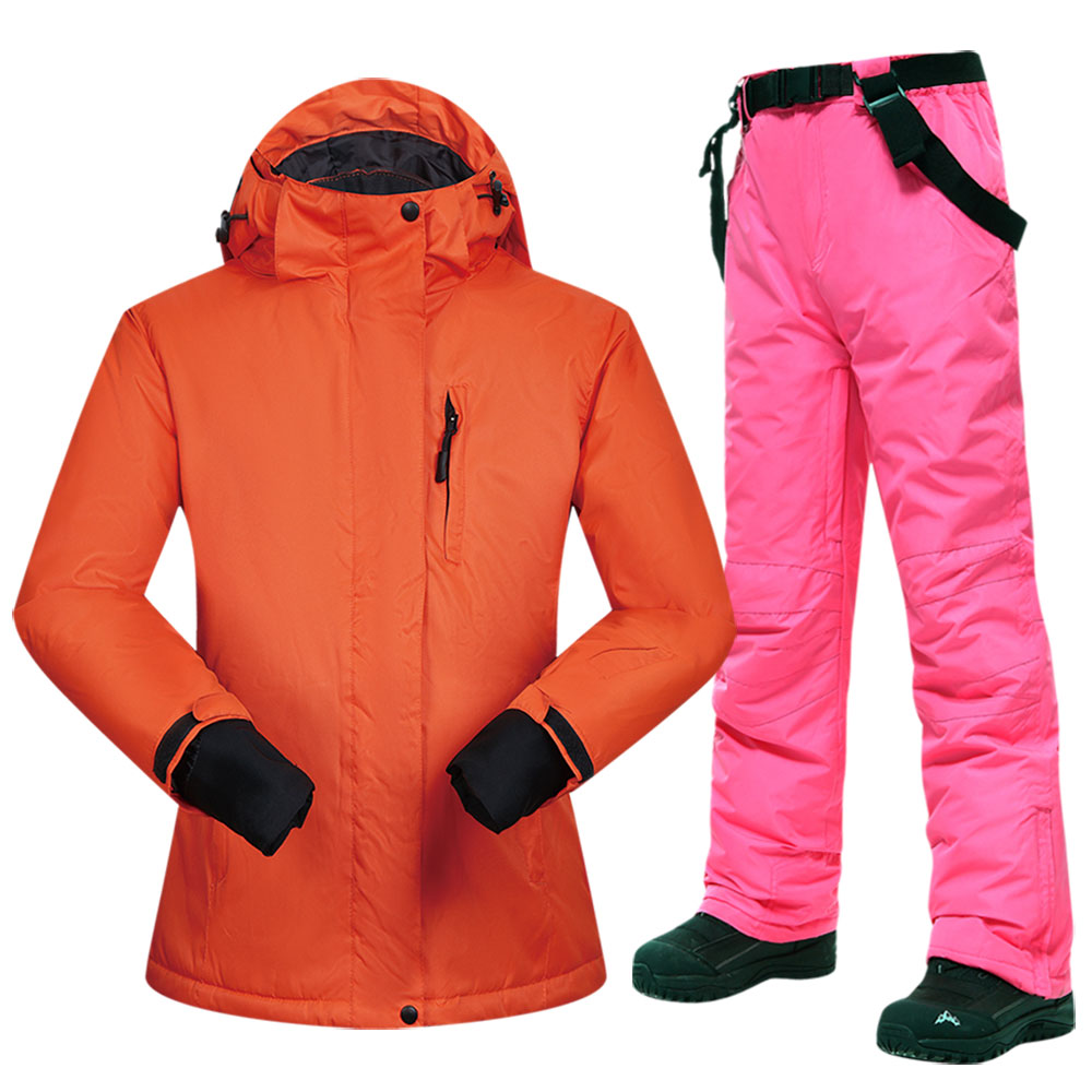New Snowboarding Suits Women Winter Windproof Waterproof Female Ski Jacket And Snow Pants Sets Super Warm Brands Women Ski Suit