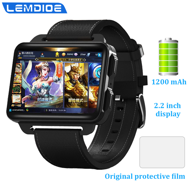 2.2 inch 3G Smart Watch Men Android 5.1 WIFI SIM Card GPS Bluetooth Heart Rate Monitor Pedometer Smartwatch  Replaceable strap