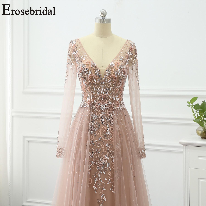 Erosebridal Formal Dresses Evening-Gowns A-Line Long-Sleeve Elegant Women Train